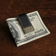 Personalized Gentry Leather Money Clip - Engraved Money Clip - Leather Money Clip - Father's Day Gifts - Gifts for Him - Groomsmen Engraved Money Clip, Engraved Gifts, Custom Money Clips, Personalized Gifts For Men, Personalized Wallets, Money Clip Wallet, Groomsman Gifts, The Ordinary, Fathers Day Gifts