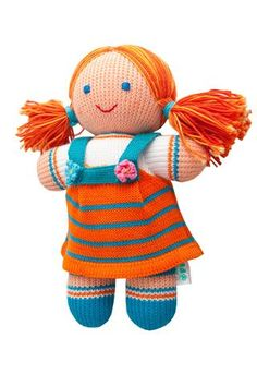Soft Toy Girl - Knitted Doll from FREIATOYS