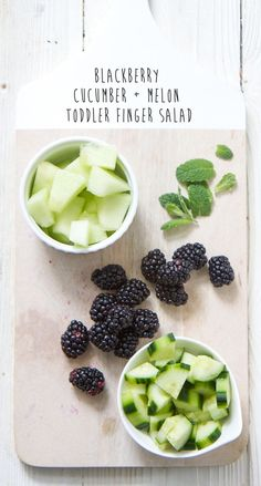 Baby Food | Blackberry cucumber melon finger salad babyfood