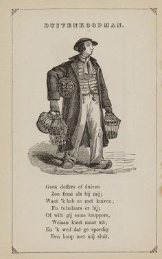 Duivenkoopman. Uit: Prentenboek: een ijverige hand vindt werk, 1850. Aanvraagnummer: 851998240
