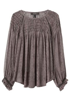 Isabel Marant / Dajo Printed Smocking Top