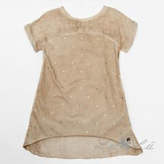 L:ú L:ú by @Miss Grant Official beige dress with hearts #beige #missgrant #SS14 #spring #summer #springsummer2014 #childrens #kids #childrenswear #kidswear #kidsfashion #girls