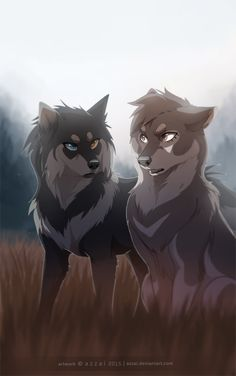 Dark brown)) this is mist! She is sisters with flip. She's very calm and collected. She keeps to herself. (( open Light brown)) this is flip, she's a confident perky wolf who is sisters with mist. ( @apugoftea  THEIR BOTH HUNTERS