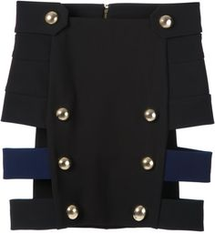Love this: ANTHONY VACCARELLO Multicolor Decorative Button Skirt @Lyst