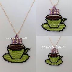 Buharı üstünde mis gibi kokusuyla taze, sıcacık bir kahve isteyen?  Designed by @supertakilar  Kendi tasarımım... #miyuki #handmade #supertakilar #coffee