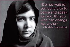 These completely inspiring quotes by Malala Yousafzai about women's rights are ones EVERY girl needs to hear. In fact, EVERYONE should really read these Malala quotes. Malala Yousafzai Zitate, Malala Yousafzai Quotes, Silence Speaks Volumes, Kailash Satyarthi, Woman Quotes, Life Quotes, Seneca, Importance Of Education, Nobel Peace Prize