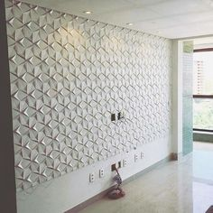 For an accent wall in a half bath Wall Cladding Interior, Panneau Mural 3d, 3d Wall Tiles, Brick Paneling, Panelling, Sala Grande, Tv Wall Decor, 3d Wall Panels, Living Room Interior