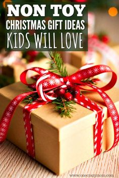 Find Christmas gifts for kids they will love. 20 non toy Christmas gift ideas for kids. The best Christmas gifts for kids that won't add clutter. Christmas Gifts For Men, Christmas Fun, Holiday Gifts, Christmas Quotes, Christmas Wrapping, Christmas Ornaments, Christmas Colors, Gifts For Old Men, Gifts For Kids