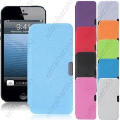 $7.49 - Protective PU Leather Hard Case Cover Shell Protector for Apple iPhone 5 5S from UltraBarato Gadgets