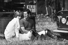 Lady Diana takes a romantic break with Prince Charles as he pauses from a polo match in 1981.