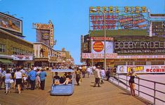 Take a load off! Boardwalk, Atlantic City, c1960.