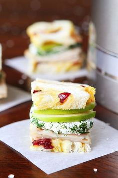Turkey and Apple Goat Cheese Tea Sandwiches with Homemade Cranberry Orange Bread Recipe: Tea Party Recipe Brunch, Tea Party Sandwiches, Finger Sandwiches, Rolled Sandwiches, Delicious Sandwiches, English Tea Sandwiches, Christmas Sandwiches, Appetizer Recipes, Appetizers