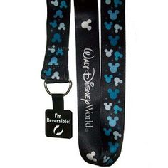 Disney Lanyard - Reversible Blue Mickey Mouse Ears Icons  $14