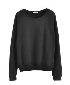 Pure Color Long Sleeves Sweatshirt