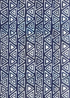 Blue and White Batik Fabric