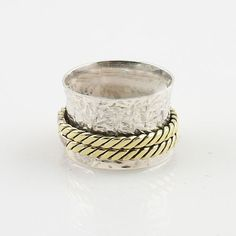 Spinner Ring - Two Tone - Keja Jewelry