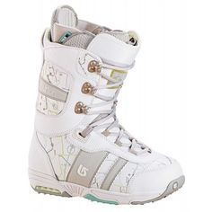 On Sale Burton Sapphire Snowboard Boot White/Lt Grey Women's 4 -... ❤ liked on Polyvore