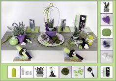 Tischdeko Geburtstag 16  in Lavendel als Mustertisch - Tafeldeko.de