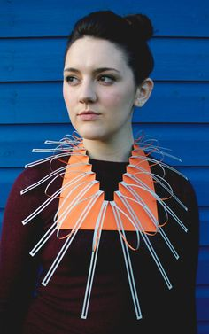 Georgina Howling - London College of Fashion Geometric 3d, Art Assignments, London College Of Fashion, Body Adornment, Recycled Fashion, Higher Design, Recycled Jewelry, Paper Jewelry, Neck Piece