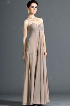 Herz-Ausschnitt prächtiges Abendkleid mit Kristall aus Chiffon - Damebox.com