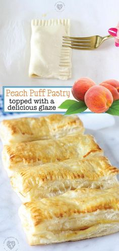 Peach Puff Pastry, Frozen Puff Pastry, Puff Pastry Sheets, Mini Desserts, Baking Recipes, Dessert Recipes, Recipes Dinner, Diet Recipes, Chickpea Recipes