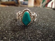 Authentic Navajo,Native American,Southwestern sterling silver chain link band turquoise ring. Size 10 1/2. Man or woman. by ATouchofNativeBeauty on Etsy