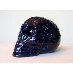 Skull BRain 'Bleu de Four' by Emilio Garcia // PORCELAIN SCULPTURE