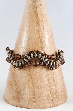 Bronze & Brown Beaded Bracelet Brown by BeauBellaJewellery #jewelry #bracelets #beads #brown #handmade #etsy #beaubella