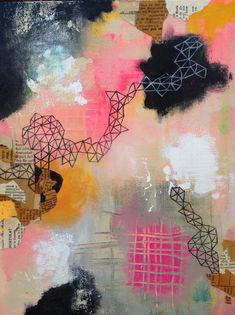 abstract painting by Lisa Congdon