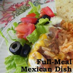 Full-Meal Mexican Dish  |  great do-ahead snack that's also a meal!