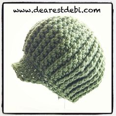 A cute ribbed baby beanie, I think I made this one as an adult size too. http://dearestdebi.com/crochet-newsboy-ribbed-baby-beanie
