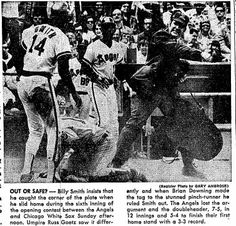 """April 13, 1975: White Sox 7-5, Angels 5-4. For years, decades really, the Angels were an uninspiring conga line of guys who made (or would make) a name somewhere else. They got swept this damp, overcast day, and by """"they"""" I mean: Bill Singer, Tommy Harper, Chuck Dobson, Mickey Rivers, third base coach Whitey Herzog and manager Dick Williams. Might as well throw broadcasters Dick Enberg and Don Drysdale in there as well."""