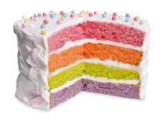 Rainbow cake facile et rapide   Scrapcooking