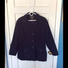Navy blue button up blazer. Great condition, navy blazer/jacket.  Front, button closure pockets. Lane Bryant Jackets & Coats Blazers