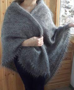 """Пуховый платок """" Тёплая зима"""""""