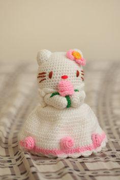Crocheted Hello Kitty bride by Namigurumi on Etsy, $20.00