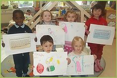 """The Children in Lamlash Nursery School created drawings on Articles 24 & 27: """"All children have the right to safe drinking water and food."""" #UNCRCbday"""