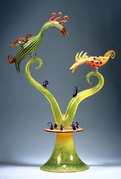 'Don't Squawk Back' sculpture at Pinkwater Glass