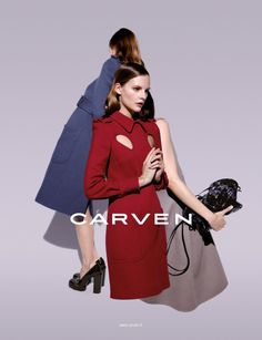 Sara Blomqvist Shows Two Sides for Carven's Spring 2013 Campaign by Viviane Sassen | Fashion Gone Rogue: The Latest in Editorials and Campaigns