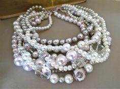 Bridal Choker Necklace Statement Wedding by SukranKirtisJewelry, $112.00