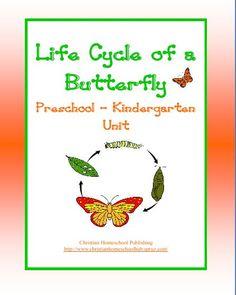 Butterfly Unit for #Preschool & #Kindergarten #homeschool