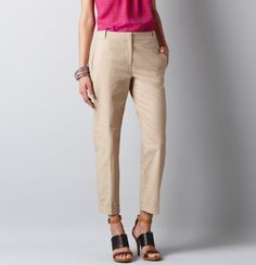 Petite Julie Cuffed Cropped Pants in Stretch Faille  #LOFTSummerGetaway