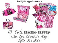 10 Cute Hello Kitty Skin Care Valentine's Day Gifts For Girls | See more Hello Kitty at www.PrettyYoungerSkin.com Hello Kitty | Valentine's Day Gifts for Girls