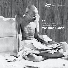 """""""Truth never damages a cause that is just. National Days, Mahatma Gandhi, Nature Decor, Paper Decorations, Natural Decorating, Paper Ornaments, Paper Centerpieces, Streamer Decorations"""