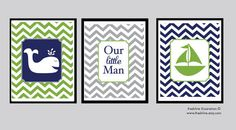 Nursery Wall Decor - Babies Room - Children's Room - Boy - Nautical