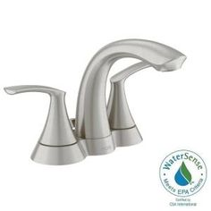 MOEN, Darcy 4 in. Centerset 2-Handle Bathroom Faucet in Spot Resist Brushed Nickel, 84550SRN at The Home Depot - Mobile