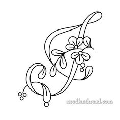 Floral Script Monogram: Letter J