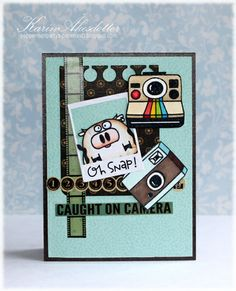 Card by SPARKS DT Karin Akesdotter PS stamp sets: We Totally Click, Chubby Chums; PS dies: Notebook Basic