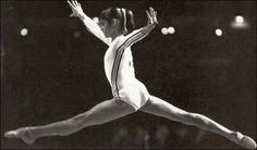 Nadia Comaneci, Olympic gymnast. first gymnasts to score a perfect 10.0..... she is amazing :)