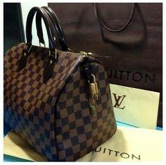 8d245b778 Damier eben speedy Louis Vuitton Handbags, Louis Vuitton Speedy Bag, Louis  Vuitton Damier,